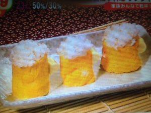 卵焼きでビール寿司