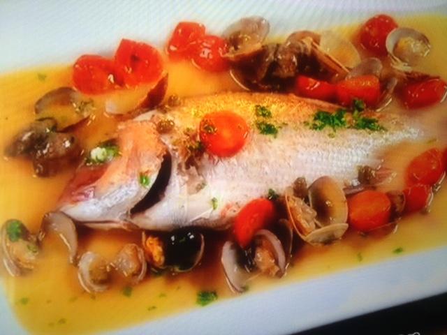 【めざましテレビ】東出昌大が作る鯛のアクアパッツァ レシピ