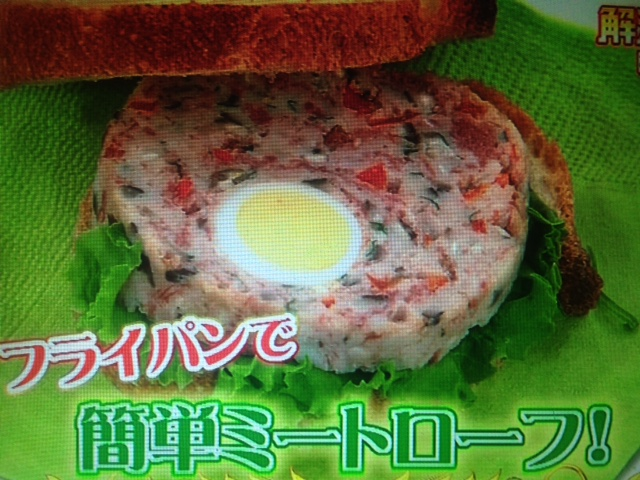 【あさイチ】小田真規子さんのフライパンで作るミートローフレシピ