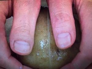 この差って何ですか? 皮の剥き方