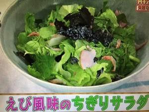 あさイチ レシピ えび風味のちぎりサラダ