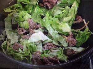 上沼恵美子のおしゃべりクッキング 牛肉とレタスの炒めもの
