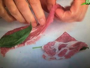 3分クッキング レシピ 豚肉のバジルサンド焼き