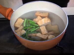 上沼恵美子のおしゃべりクッキング 厚揚げとニンニクの茎の炒めもの