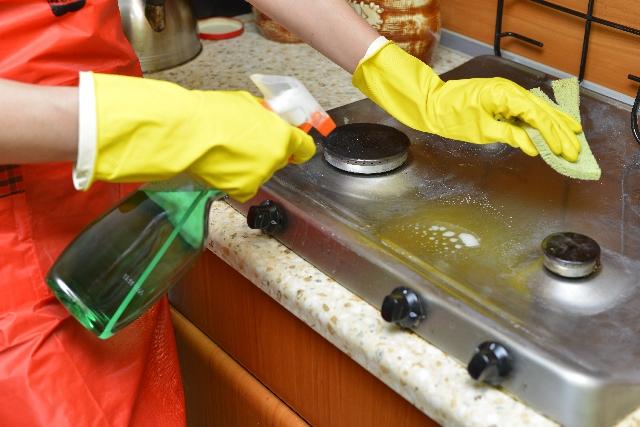 ガスコンロ 掃除 方法 画像