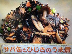 上沼恵美子のおしゃべりクッキング サバ缶とひじきのうま煮