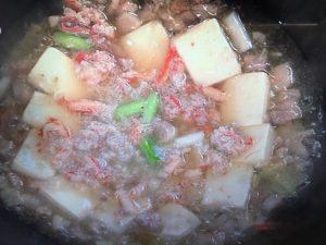 上沼恵美子のおしゃべりクッキング かにと豆腐の煮込み