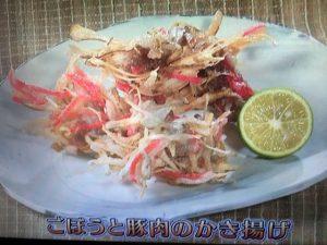 きょうの料理ビギナーズ ごぼうと豚肉のかき揚げ