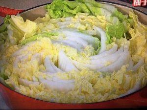 3分クッキング 白菜と豚肉の柚子こしょう鍋