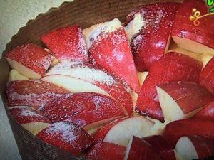 3分クッキング りんごとヨーグルトのケーキ