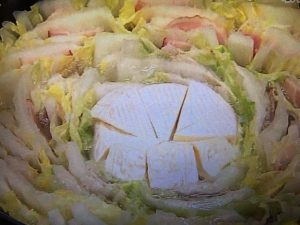 カマンベールチーズ入りミルフィーユ鍋