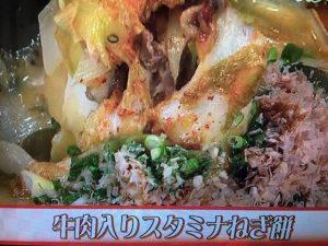 あさイチ 牛肉入りスタミナねぎ餅