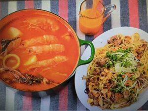 男子ごはんレシピ!トマトパッツァ&サルシッチャと舞茸のペペロンチーノ