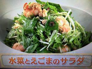 【上沼恵美子のおしゃべりクッキング】水菜とえごまのサラダ レシピ