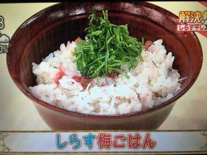 【あさイチ】しらす梅ごはん&ポテしらす レシピ
