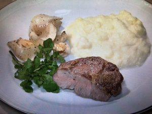 【NHKきょうの料理】ポークソテー・チーズ入りマッシュポテト・ゆり根の炒め物 レシピ