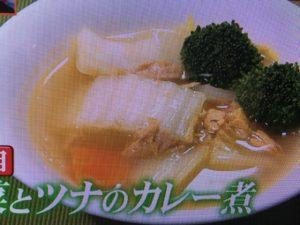 【ヒルナンデス】金子あきこ節約白菜レシピ~麻婆白菜・ツナのカレー煮・クリーム煮など