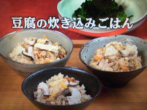 【キューピー3分クッキング】豆腐の炊き込みごはん&ほうれん草ののりあえ レシピ