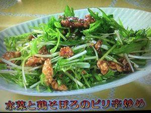 【きょうの料理ビギナーズ】水菜と鶏そぼろのピリ辛炒め&水菜と豚肉のサッと煮 レシピ