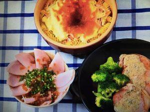 男子ごはんレシピ!ハムと白菜の焼きチーズパスタ・香味だれのハム丼など