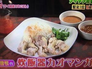 【雨上がり食楽部】ダブルあじ丼・炊飯器カオマンガイ・赤飯のイカめし