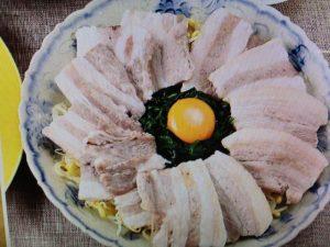 男子ごはんレシピ~茹で豚とニラの香味だれ・カニと菜の花のとろみ豆腐など