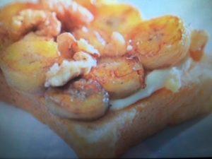 【めざましテレビ】ローラ レシピ~バナナチーズクリームトースト