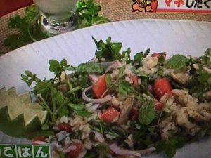 【バイキング】グッチ裕三レシピ~ドライグリーンカレーのライスサラダ&お手軽ラッシー