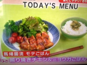 【めざましテレビ】アジアン馬場園梓の照り焼きチキン&ミョウガご飯 レシピ