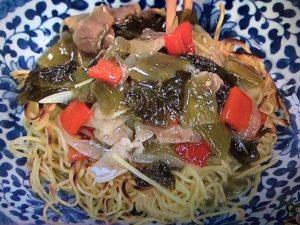 【上沼恵美子のおしゃべりクッキング】高菜のあんかけ焼きそば レシピ