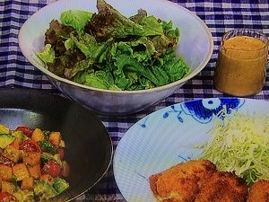 男子ごはんレシピ!カニクリームコロッケ・柿とアボカドのクミンサラダなど