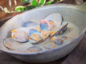 【めざましテレビ】ローラの休日 はまぐりの豆乳チャウダー レシピ