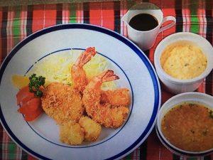 男子ごはんレシピ!ミックスフライ定食(エビ&ホタテフライ・コロッケ・コンソメスープ)