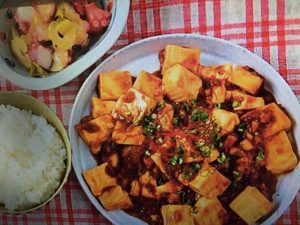 男子ごはんレシピ!海鮮麻婆豆腐&タコとセロリのネギ油かけ
