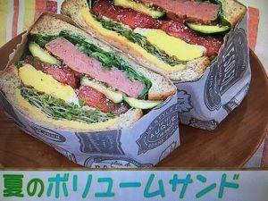【あさイチ】夏のボリュームサンド&フルーツサンド レシピ