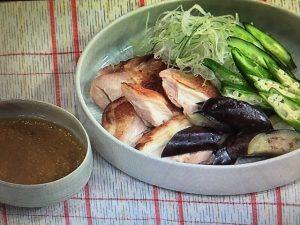きょうの料理 焼き鶏と夏野菜のごまみそがけ