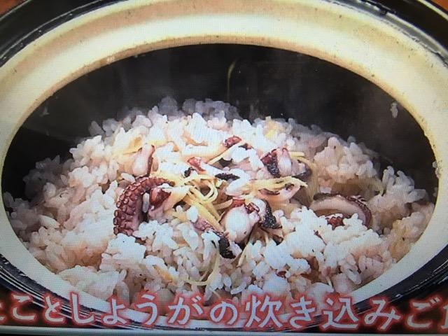 【きょうの料理】たことしょうがの炊き込みご飯・ゆで鶏のたまねぎ塩だれ レシピ