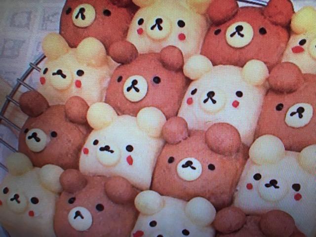 【ヒルナンデス】うみさんの「2色のクマさん達のちぎりパン」レシピ