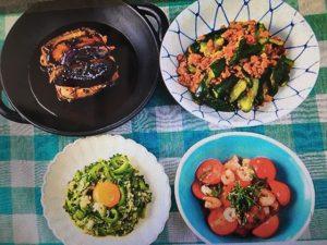 男子ごはんレシピ!トマトとエビのバルサミコサラダ・ナスと豚肉の黒酢あんかけなど