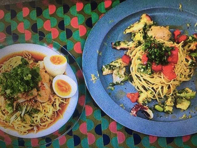 男子ごはんレシピ!韓国風冷製ごまじそパスタ&よだれ鶏の和え麺