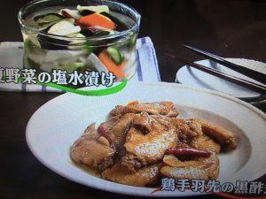 【キューピー3分クッキング】鶏手羽先の黒酢煮&夏野菜の塩水漬け レシピ