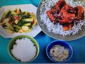 男子ごはんレシピ!黒酢豚・チンゲン菜と干しエビの炒め物・お手軽スープ