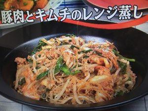 【キューピー3分クッキング】豚肉とキムチのレンジ蒸し レシピ