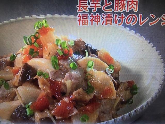 【きょうの料理ビギナーズ】長芋と豚肉、福神漬けのレンジ蒸し&長芋とベーコンのソテー レシピ