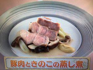 【上沼恵美子のおしゃべりクッキング】豚肉ときのこの蒸し煮 レシピ