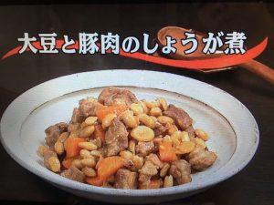 【キューピー3分クッキング】大豆と豚肉のしょうが煮 レシピ