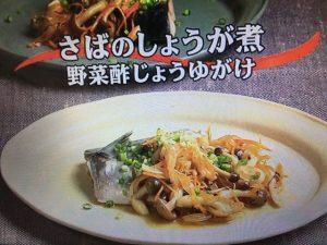 【キューピー3分クッキング】さばのしょうが煮 野菜酢じょうゆがけ レシピ