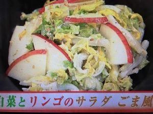 あさイチ 白菜とりんごのサラダ ごま風味