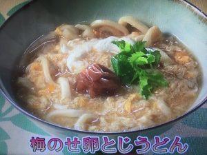 きょうの料理ビギナーズ 梅のせ卵とじうどん
