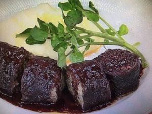 【あさイチ】牛肉巻きの赤ワイン煮&マッシュポテト